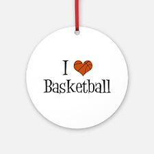I Heart Basketball Ornament (Round)