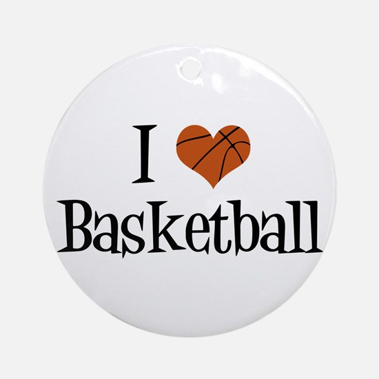 I Heart Basketball Ornament (Round)