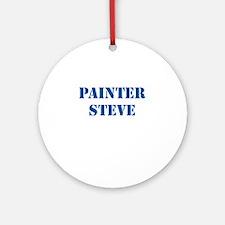 Painter Steve Ornament (Round)