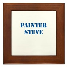 Painter Steve Framed Tile