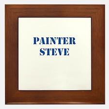 Painter Steve Framed Tile