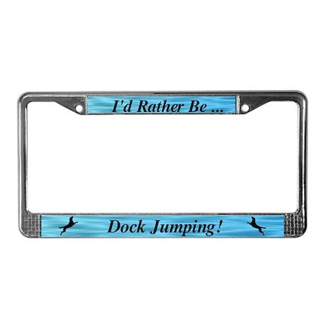 Dock Jumping License Plate Frame