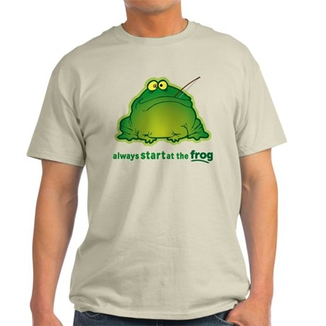 Funny Orchestra Strings Frog Light T-Shirt
