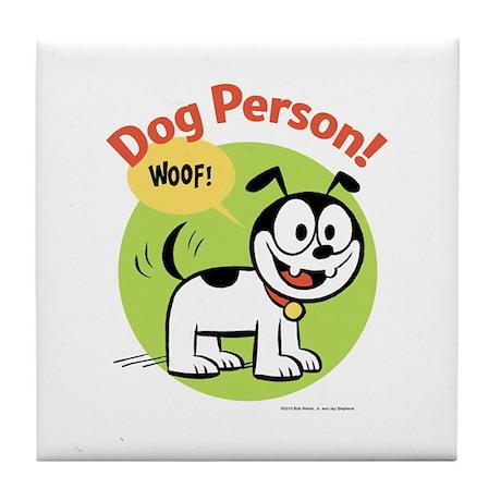 Dog Person Tile Coaster