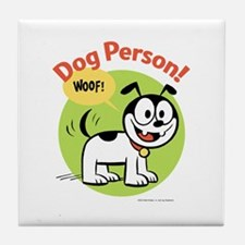Dog Person Tile Coaster