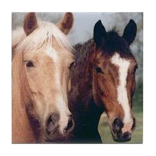 2 Pretty Horses Tile Coaster