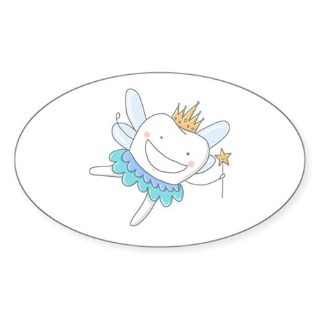 Tooth Fairy - Sticker (Oval 10 pk)