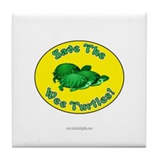 Save the Wee Turtles... Tile Coaster