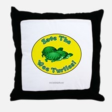 Save the Wee Turtles... Throw Pillow