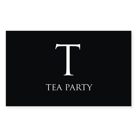 Tea Party Sticker (Rectangle)