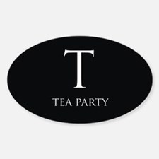 Tea Party Sticker (Oval)