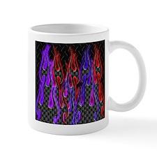 carbon_diamond_flames_redblue003 Mugs