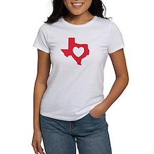 Tee, Red, I Love Texas