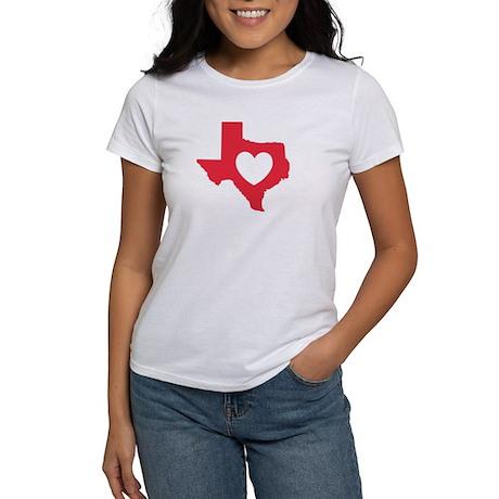 Women's T-Shirt, Red, I Love Texas