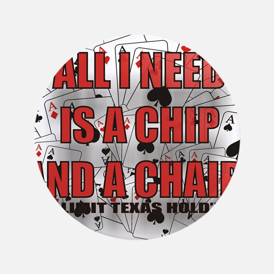 """A CHIP AND A CHAIR 3.5"""" Button"""