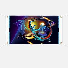 Blue Galaxy Dragon Banner