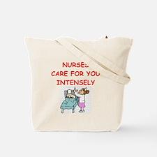 funny nurses joke Tote Bag