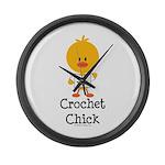 Crochet Chick Large Wall Clock