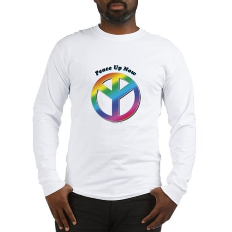 Peace Up Now Long Sleeve T-Shirt