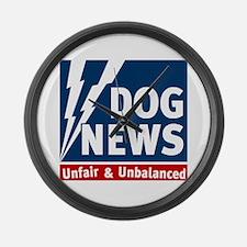 Dog News Team Large Wall Clock