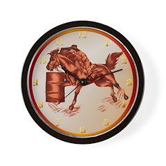 Barrel Racing Wall Clock