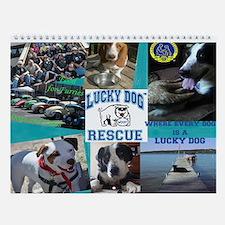 Cute Lucky dog Wall Calendar