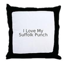 Unique Suffolk punch Throw Pillow