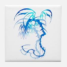 'Lectrik Dragon shadowed Tile Coaster