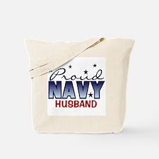 Proud Navy Husband Tote Bag