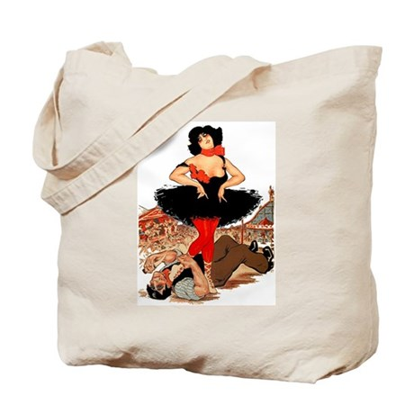 Knife Fight Tote Bag
