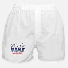 Proud Navy Husband Boxer Shorts