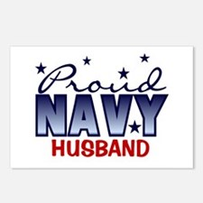 Proud Navy Husband Postcards (Package of 8)