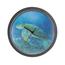 Sea turtle shimmer Wall Clock