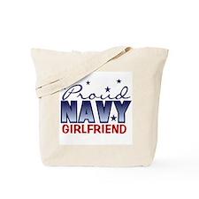 Proud Navy Girlfriend Tote Bag