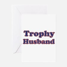 Funny Trophy husband Greeting Cards (Pk of 10)
