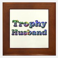 Cute Trophy husband Framed Tile