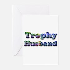 Cute Trophy husband Greeting Cards (Pk of 10)