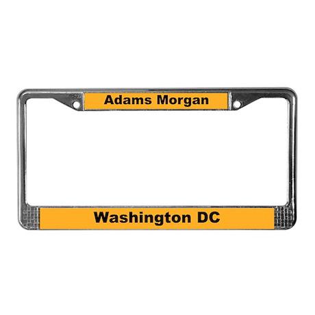 Adams Morgan License Plate Frame