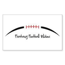 Fantasy Football Widow Decal