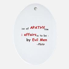 Plato Politics Quote Ornament (Oval)