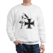 Hot Babe on Cross Sweatshirt