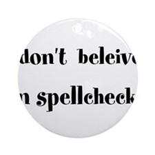 Spellcheck Ornament (Round)