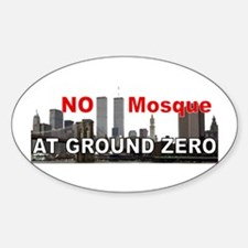 NO Mosque! Decal