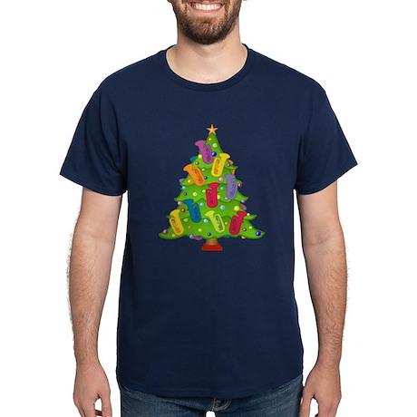 Tuba Christmas Dark T-Shirt
