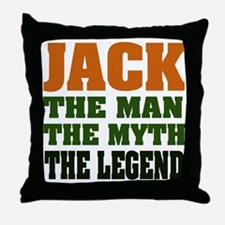 JACK - The Legend Throw Pillow