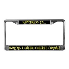 HI Owning Green Cheeked Conure License Plate Frame
