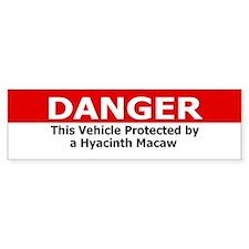 Danger Hyacinth Macaw Bumper Car Sticker