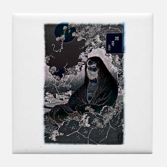Meditation by Moonlight Tile Coaster