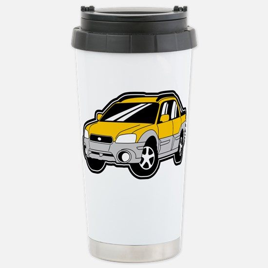 Baja Yellow Stainless Steel Travel Mug