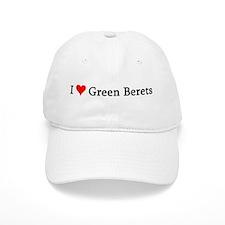 I Love Green Berets Baseball Cap